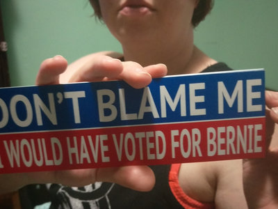Don't Blame Me, I Would Have Voted For Bernie bumper sticker main photo