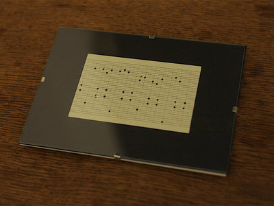 "Music Box Punch Card Fragment ""Dinan"" I main photo"