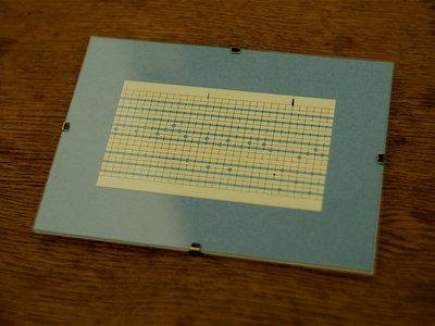 """Music Box Punch Card Fragment """"Les Soirs"""" II main photo"""