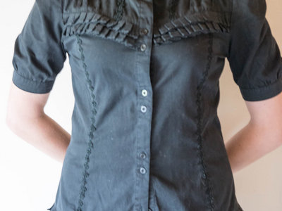 Black gothic lolita shirt main photo