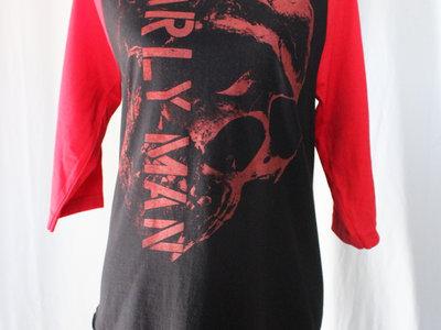 SKULL & STENCIL Red+Black Baseball Shirt main photo