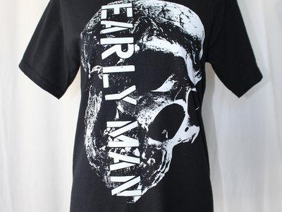 EARLY MAN SKULL t-shirt WHITE INK main photo