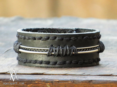 Strung Up AA Leather Bracelet (#CLS167) w/ FREE Album Bundle Download main photo