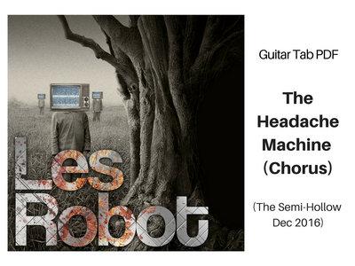 Headache Machine Chorus Riff - Guitar Notation PDF main photo