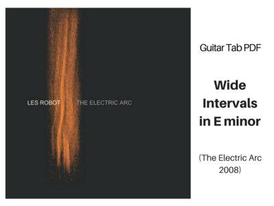 Wide Intervals in E Minor - Guitar Tab PDF main photo