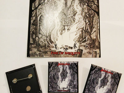 """Fire of Iniquity 1.5"""" square METAL PIN main photo"""