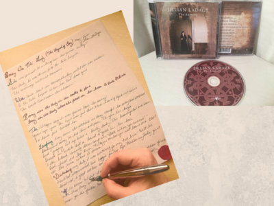 One Handwritten Lyric on Parchment Paper Medieval Style + The Ancestry Jewel Case CD main photo