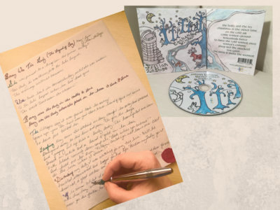 "One Handwritten Lyric on Parchment Paper Medieval Style + ""Enchanted Winter"" Limited Edition CD main photo"