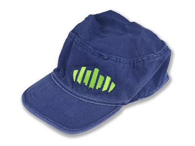 Blue Baseball Hat with Zipper Pocket main photo