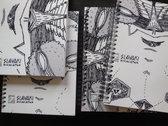 A5 Spiral Notebook feat. Slavaki - Escalator EP artwork by Sam Crew photo