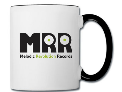 Official MRR Coffee Cup: White Cup with Black Trim main photo