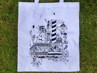 Numbers Boat Party Tote Bag (White/Black) main photo