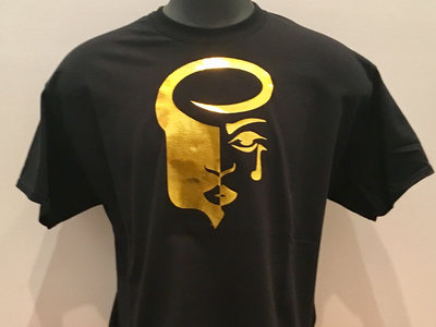 Men's Black Tee with Gold Logo (classic fit) main photo