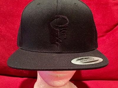 Black Snapback Hat with Black Logo main photo