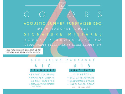 ACOUSTIC SUMMER FUNDRAISER BBQ $15 ADMISSION main photo