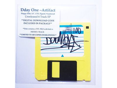 "Dday One, Artifact Ep, Floppy Disk, 3.5"", Download Code, Limited Edition, Signed, Numbered main photo"