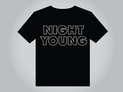 Night Young (B&W) Men's T-Shirt main photo