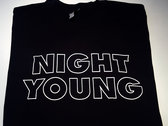 Night Young (B&W) Men's T-Shirt photo