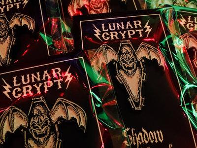 Shadow Windhawk 'Bat O' Lantern' Logo Enamel Pin by Lunar Crypt Co. main photo