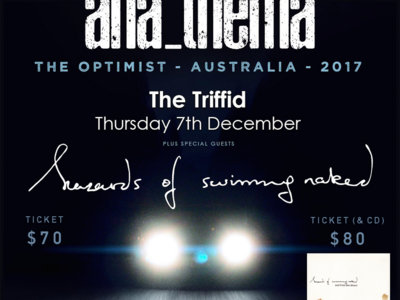 Anathema + hazards of swimming naked live at The Triffid [Ticket + CD combo] main photo