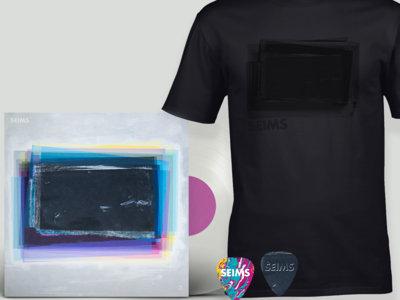 3 Vinyl + #000000 Shirt + Picks bundle main photo