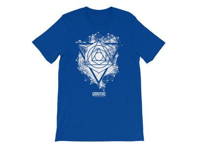Seth Grym – 'Framework' Shirt – White on Blue main photo