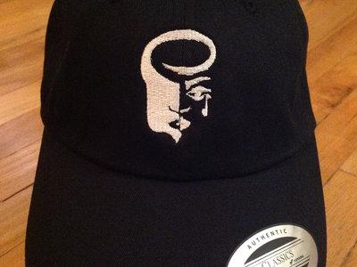 Black Dad Hat with White Logo main photo