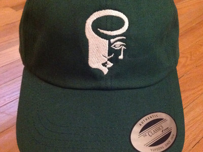 Deep Green Dad Hat with White Logo main photo