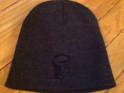 Charcoal Knit Skull Cap with Black Logo main photo