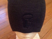 Charcoal Knit Skull Cap with Black Logo photo