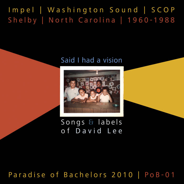 Said I Had a Vision: Songs & Labels of David Lee, 1960-1988 cover art