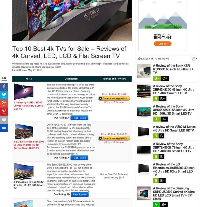 4k-Best 4k TV's For Sale cover art