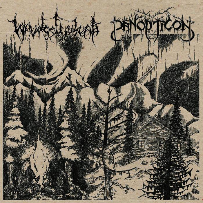 Panopticon/Waldgeflüster Split cover art