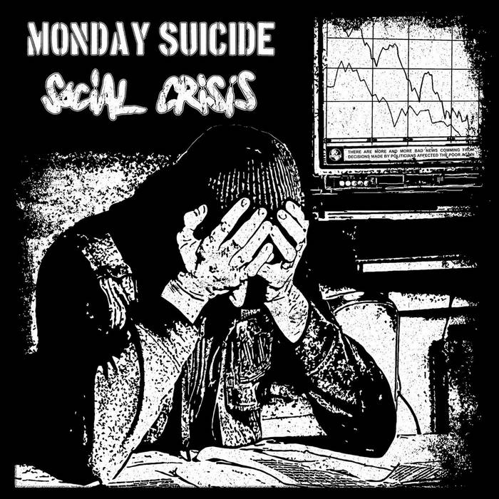 split LP with Social Crisis cover art