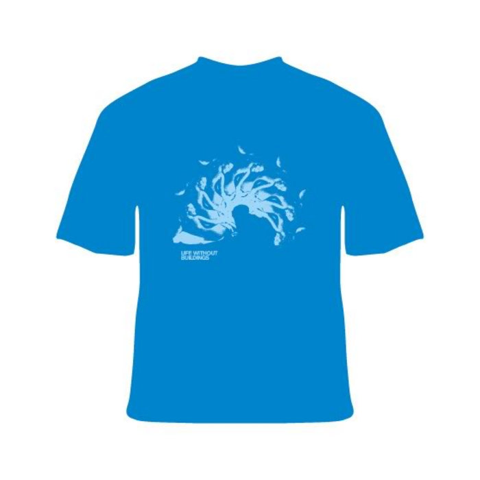 Life Without Buildings - Blue Spiral T-shirt cover art