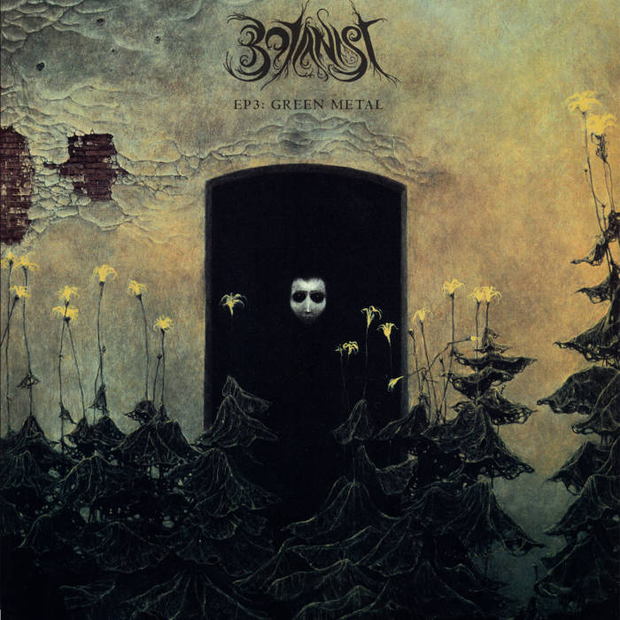 "BOTANIST / OSKOREIEN ""EP3: Green Metal / Deterministic Chaos"" Botanist version Saprophyte yellow / gold splatter colored vinyl + Backpatch + PRE-ORDER bonus cover art"