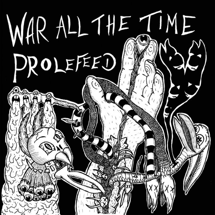 War All The Time split twelve inch cover art