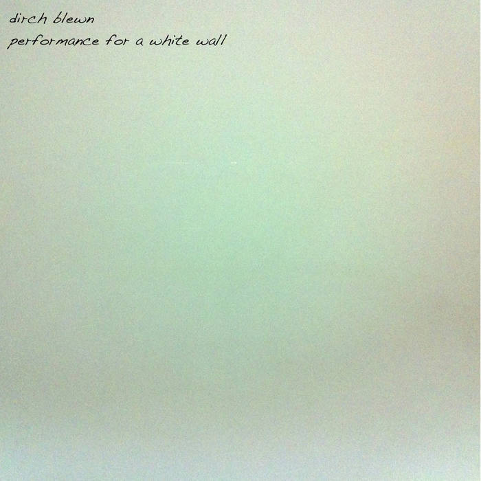 performance for a white wall cover art