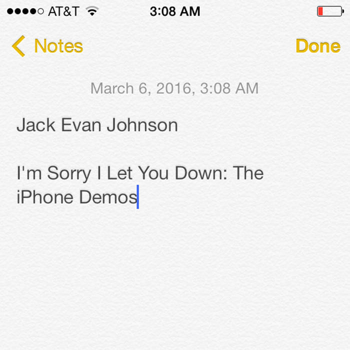 I'm Sorry I Let You Down: The iPhone Demos cover art