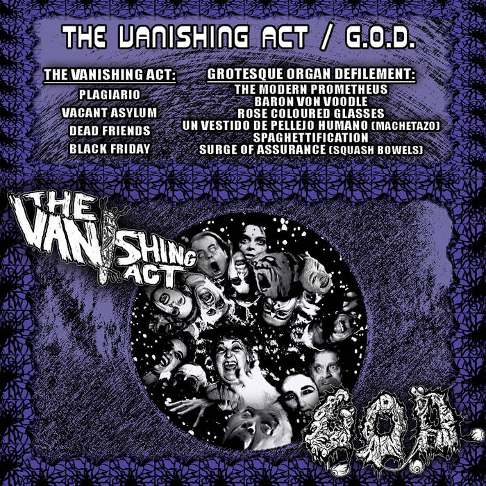 G.O.D. / THE VANISHING ACT split tape cover art