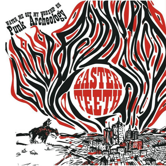 "Easter Teeth/Moral Monsters Split 7"" cover art"