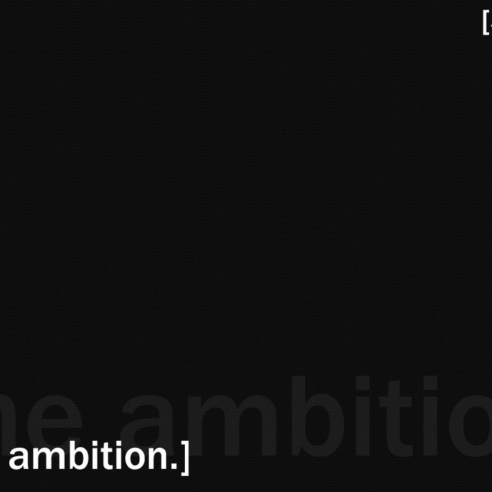 [the ambition.] cover art
