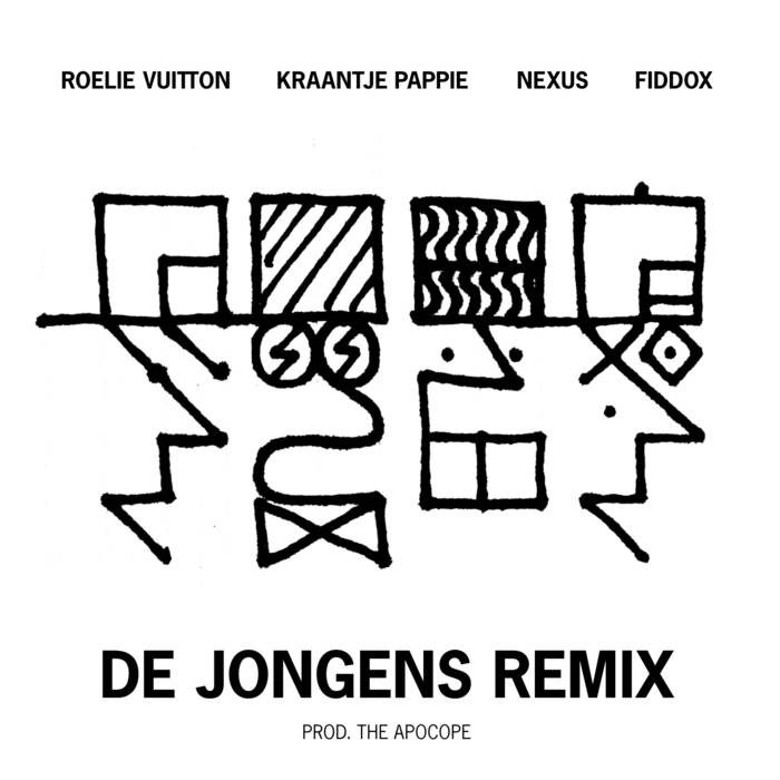 'De Jongens' Remix feat Kraantje Pappie, Nexus en Fiddox cover art