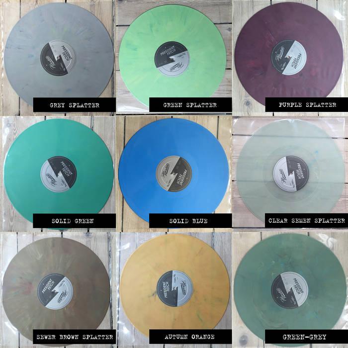 Hjortene // President Fetch Split LP cover art