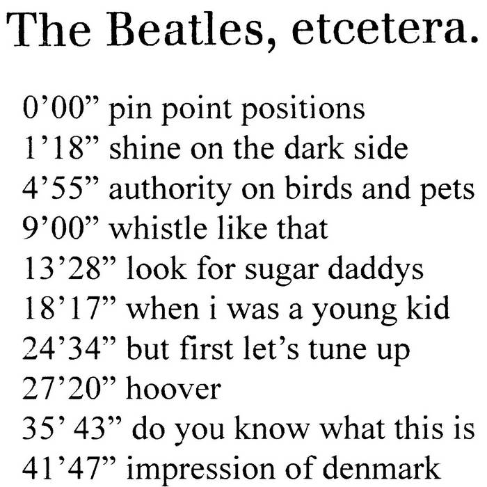 The Beatles, etcetera. cover art