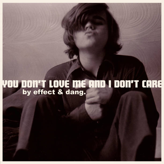 You Don't Love Me and I Don't Care cover art