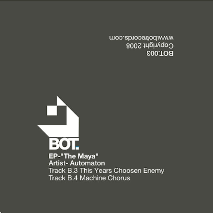 """The Maya"" Ep by Automaton, Vinyl+digi cover art"