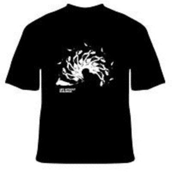 Life Without Buildings - Black Spiral T-shirt cover art