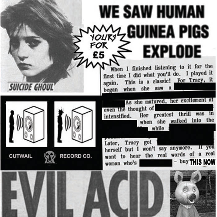 WE SAW HUMAN GUINEA PIGS EXPLODE cover art