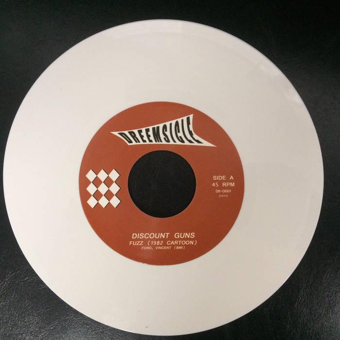 "FUZZ (1982 CARTOON) / 9 LIVES (ltd edition WHITE VINYL 7"") cover art"